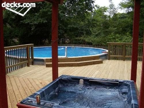 Could eventually add an above ground custom pool to deck - Custom above ground pool ...