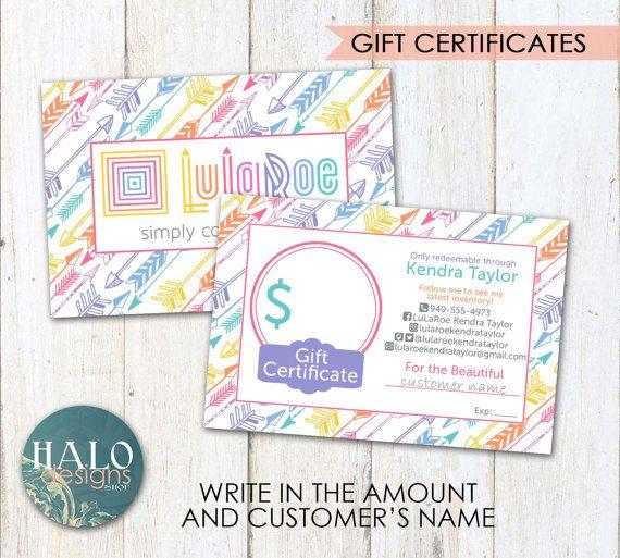 lularoe gift cards arrows by halodesignsshop on etsy | lularoe