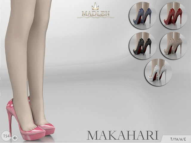 Sims 4 CC's - The Best: MJ95's Madlen Makahari Shoes #shoegame
