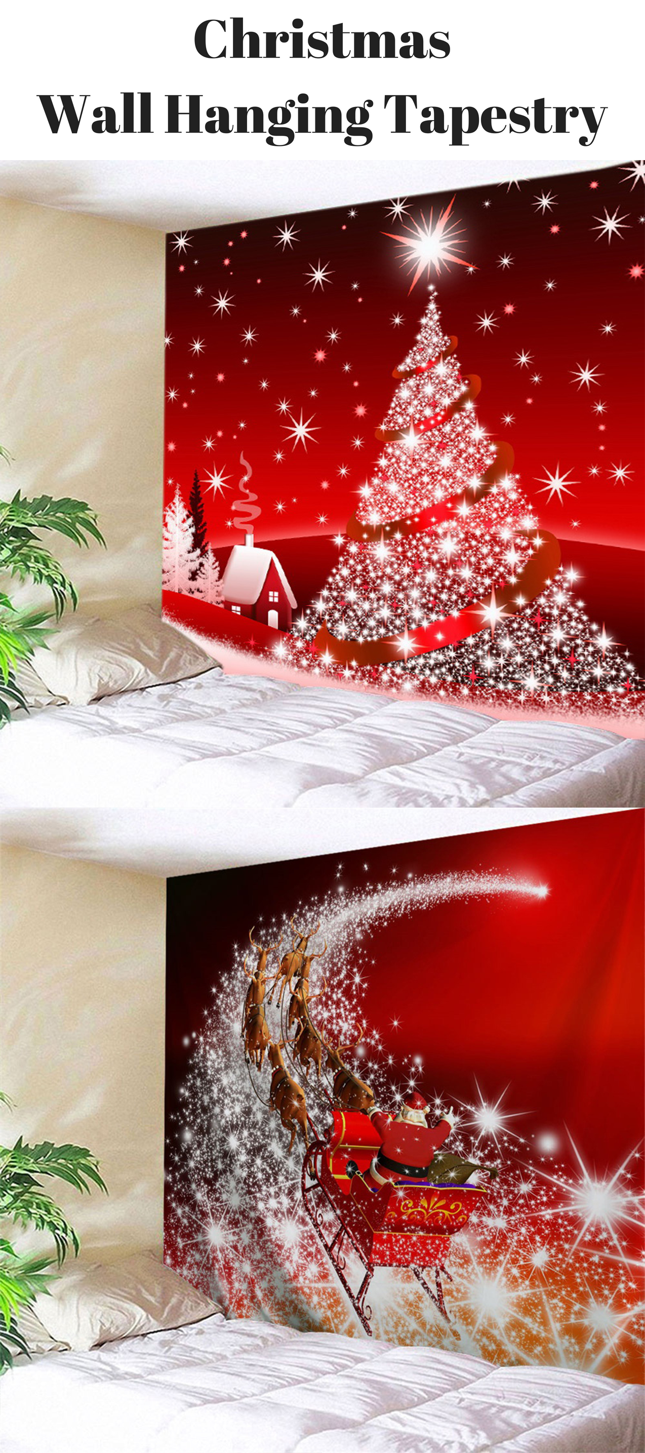Christmas Wall Hanging Tapestry From 11 Free Shipping