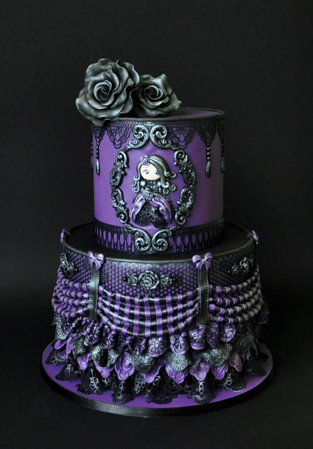 Remarkable Victorian Gothic By Archicaketure Met Afbeeldingen Paars Funny Birthday Cards Online Inifofree Goldxyz