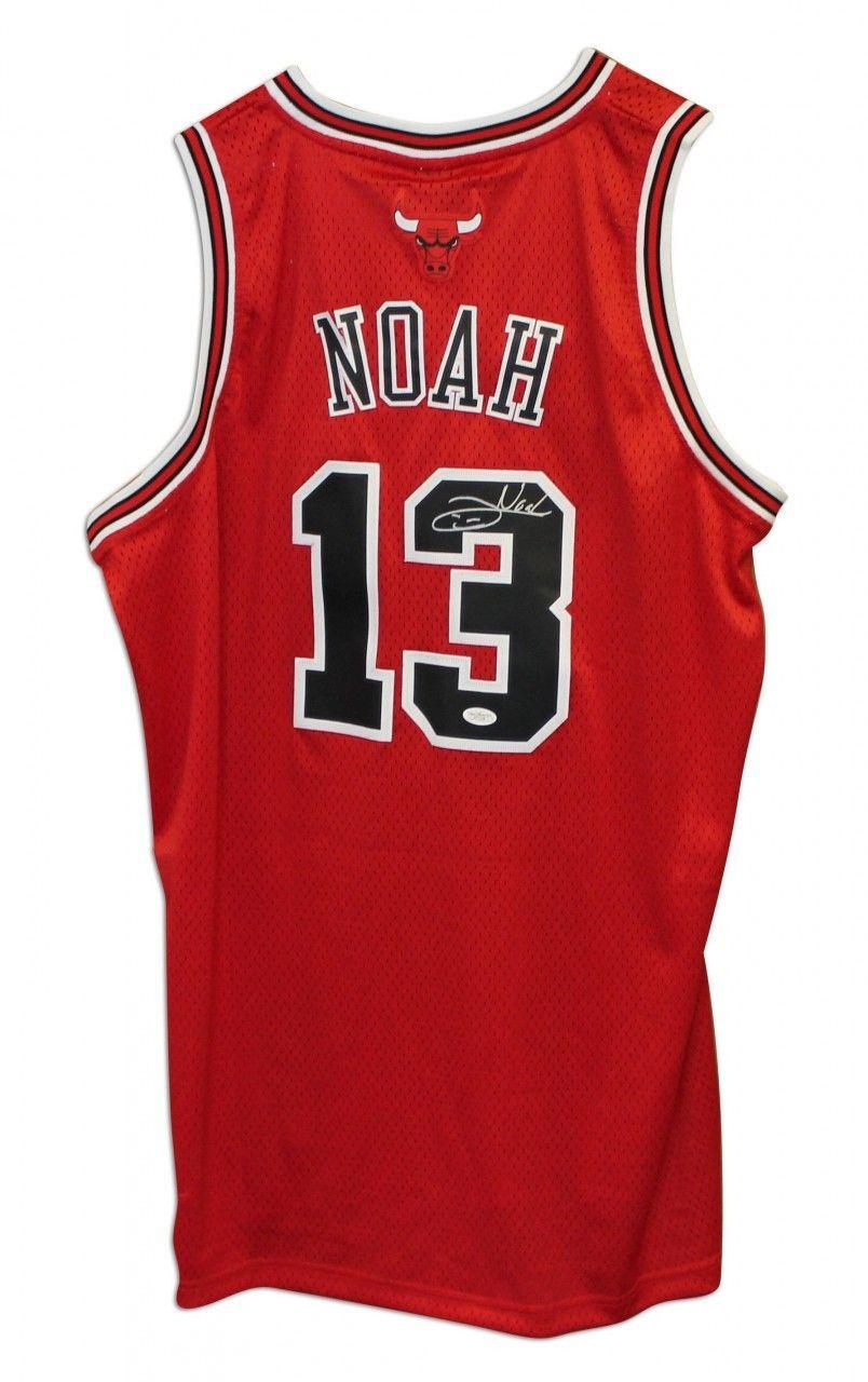 abade9937 AAA Sports Memorabilia LLC - Joakim Noah Chicago Bulls Autographed Red  Adidas Jersey