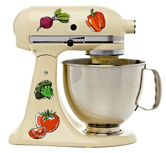 Watercolor Vegan Fresh Veggies Kitchenaid Mixer Mixing Machine