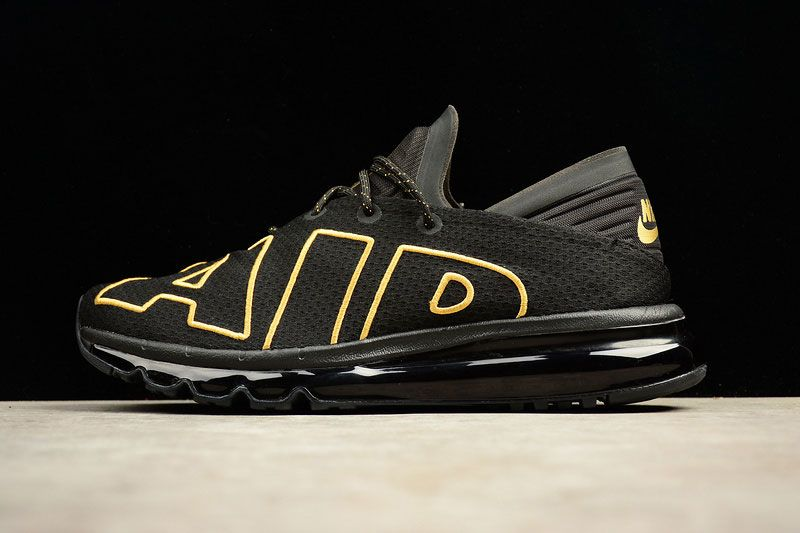 detailed pictures 3eed6 2ec48 ... usa 2017 nike air max flair mens running shoes classic uptempo sneakers  black gold 07f72 fd9ce
