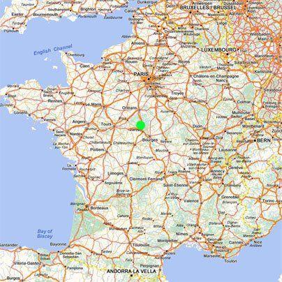 Hotel La Sauldraire In Salbris Entre Orleans Et Vierzon 1h30 De Paris Sortie N 4 Autoroute A71 Cen Carte De France Ville Carte Routiere Route De France