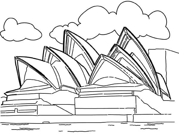Opera House Sidney Australia Coloring Pages Landmark Edition Coloring Pages Landmarks Art Graffiti Drawing