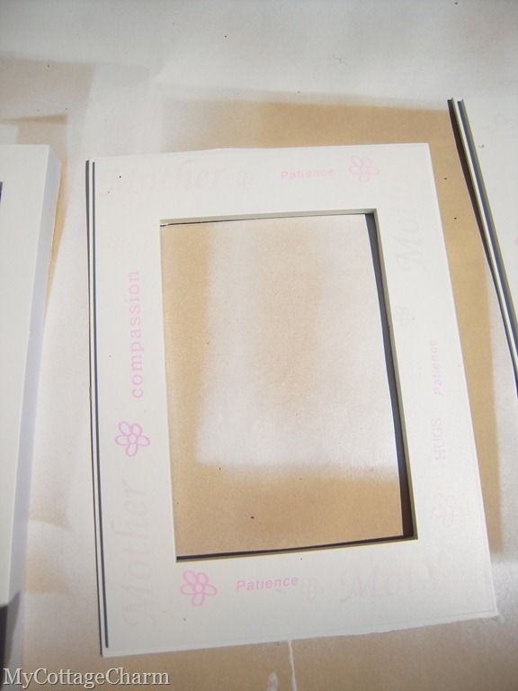 Alot of nice (and cheap) picture frames come with tacky mating that ...