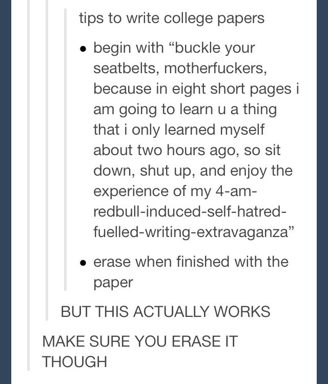 Essays on college life