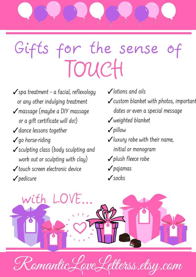 5 senses gift tags care package for her romantic gifts for