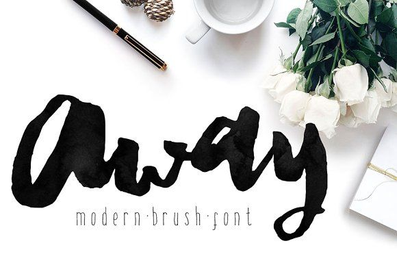 Away font modern brush calligraphy fonts lettering design and