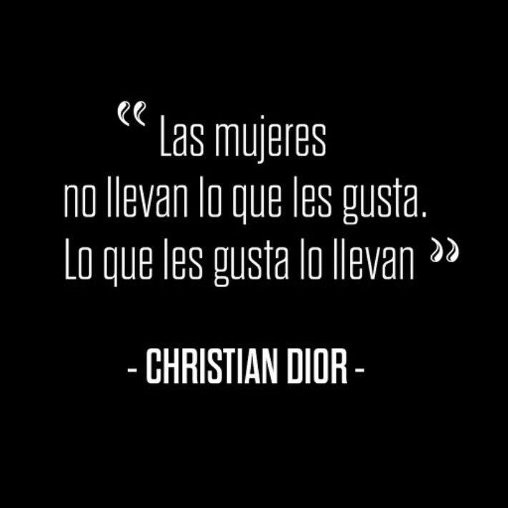 «Las mujeres no llevan lo que les gusta. Lo que les gusta lo llevan.»  Christian Dior (1905 - 1957)  Influyente diseñador de moda, fundador de la firma de moda que lleva su nombre, Dior, una de las marcas de artículos de lujo más representativas de los últimos sesenta años. #FelizDiaDeLaMujer