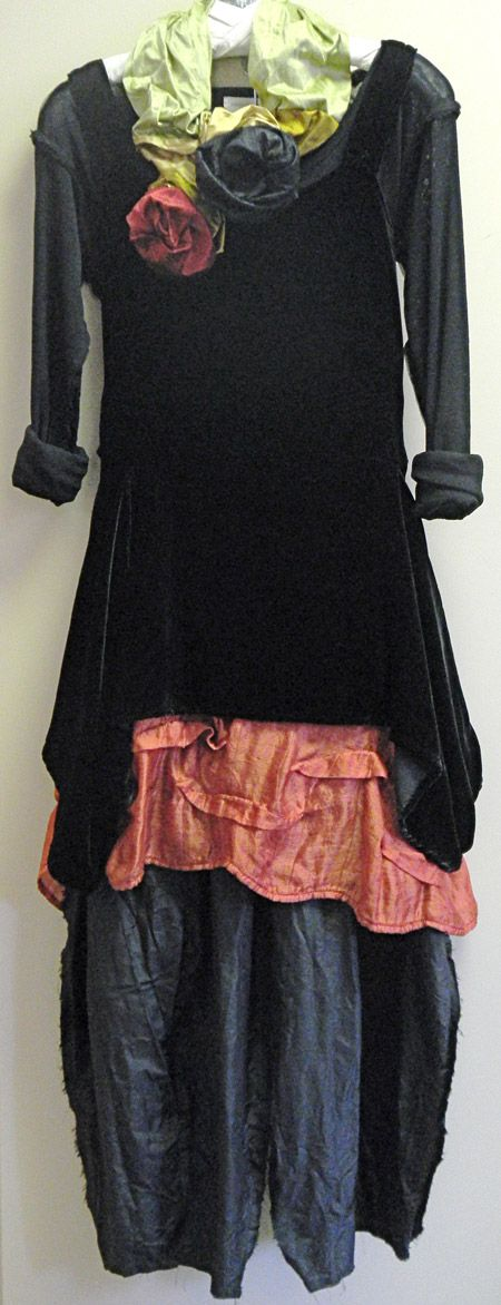 Love the shock of color under this velvet tunic - Kati Koos ~ Late November 2012 Newsletter