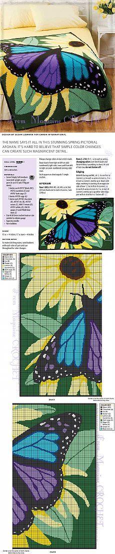 вязание(жаккард,вышивка) | Hintergründe und Schmetterlinge