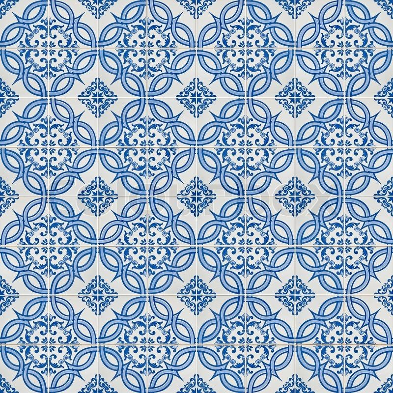 Seamless tile pattern of ancient ceramic tiles. | Stock Photo ...
