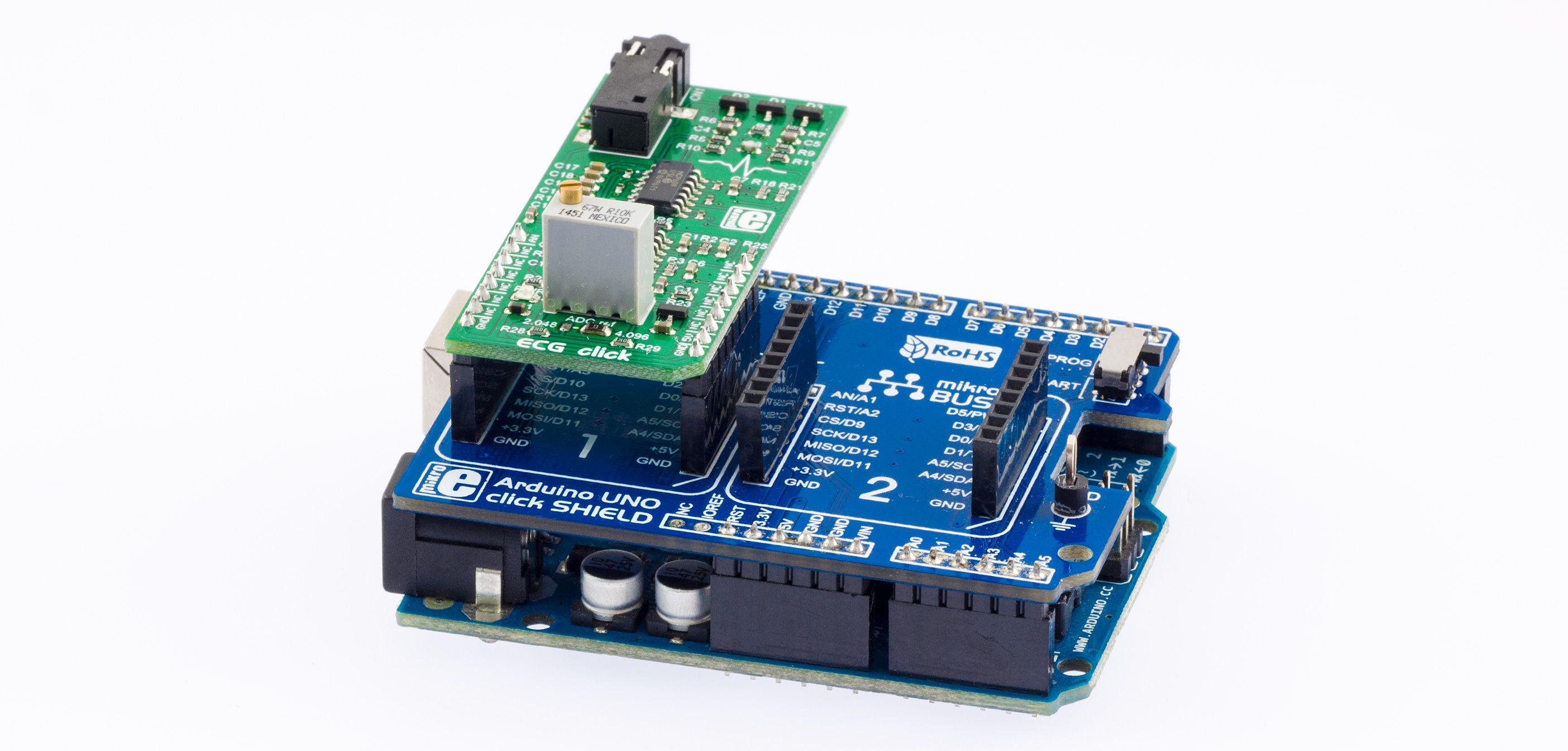 Ecg Click Arduino Ide Code Examples