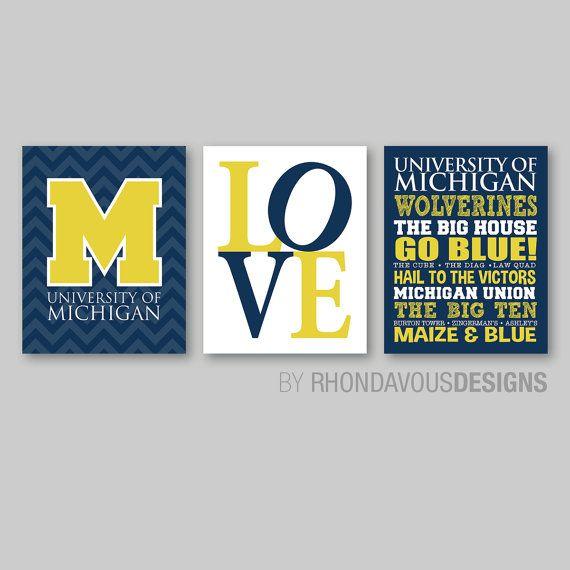Buy 1 Get 1 FREE University of Michigan U of M UM Vinyl Decal Sticker Car