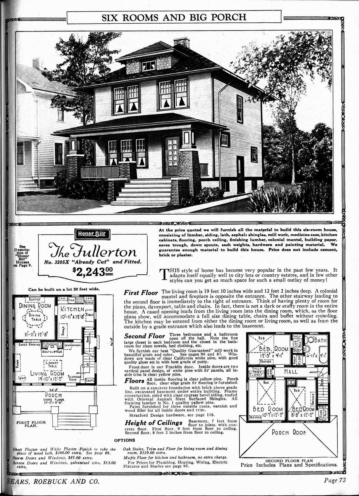 the fullerton sears home i love the porch my style houses square house plans vintage. Black Bedroom Furniture Sets. Home Design Ideas