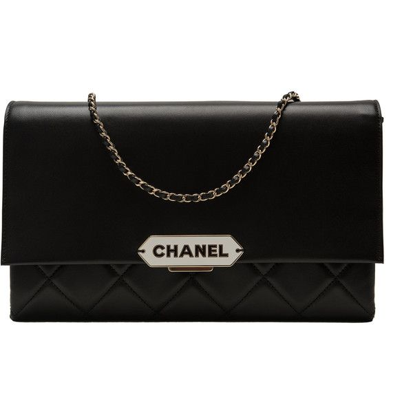c72f40fc5a7d Chanel Black Retro Label Lambskin Flap Bag ( 3