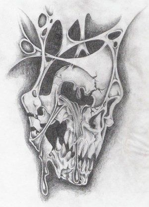Tattoo Designs Of Skulls On Paper Tattoo Patterns Skulls Evil Skull Tattoo Scary Tattoos Skull Tattoo Design