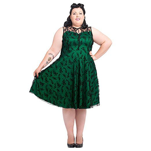 Voodoo Vixen Womens Ladies New Vintage Flower Flocked Lace Net Party Prom Dress.  So lovely, I do have this dress and it is a treat to wear.  Love it!