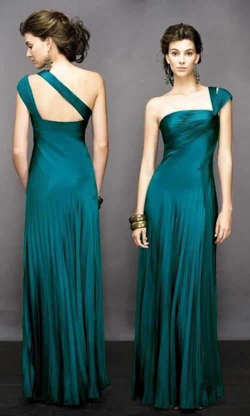 Vestidos de noche verde petroleo