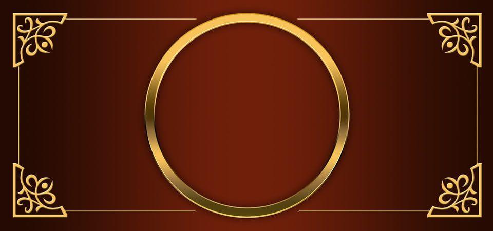 Golden Frame In Elegant Brown Background Photo Frame Design Ornament Frame Frame