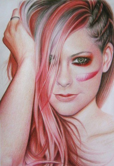 Avril lavigne bad girl by a d i n u g r o h o faber castell classic color pencils smooth paper