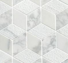 Geometric Cubes Tiles Floors Honed Polished Groove Cubes Mosaics Tile Mosaic Tiles Bathroom Tile Cubes Pattern M White Marble Mosaic Marble Mosaic Tiles