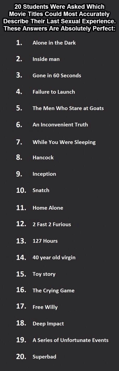 Sexual innuendo movie titles