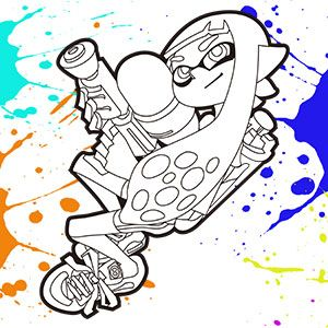 Dessin De Splatoon A Colorier