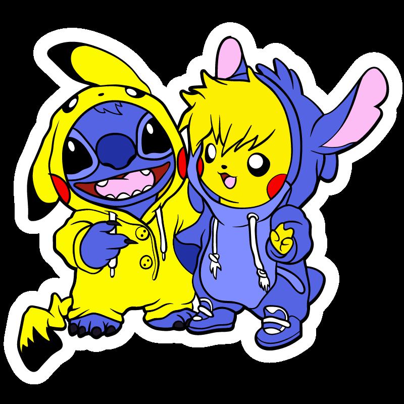 Stitch And Pikachu Costumes Cute Cartoon Wallpapers Stitch And Pikachu Cute Pokemon Wallpaper