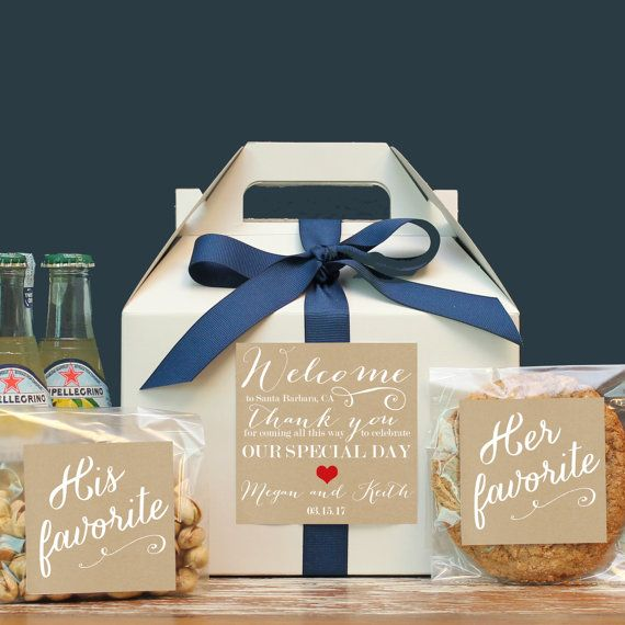 Wedding Guest Gift Baskets: Set Of 6-Out Of Town Guest Box / Wedding Welcome Box