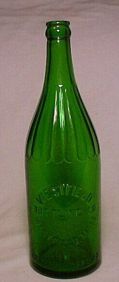 1930 Westfield Bottling Co. Westfield, Mass., Emerald Green Soda Bottle. $8.00, via Etsy.