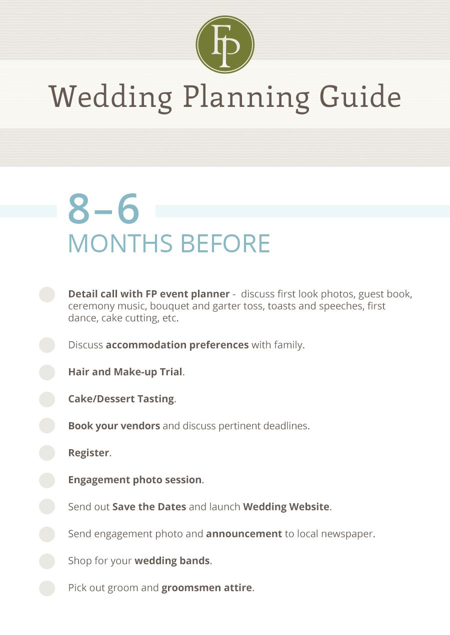Planning A Wedding In 8 Months Tbrbinfo