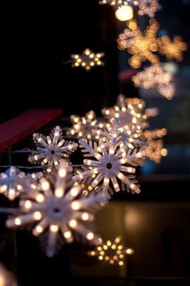 Winter Iphone Wallpaper Tjn Christmas Lights Snowflake Lights