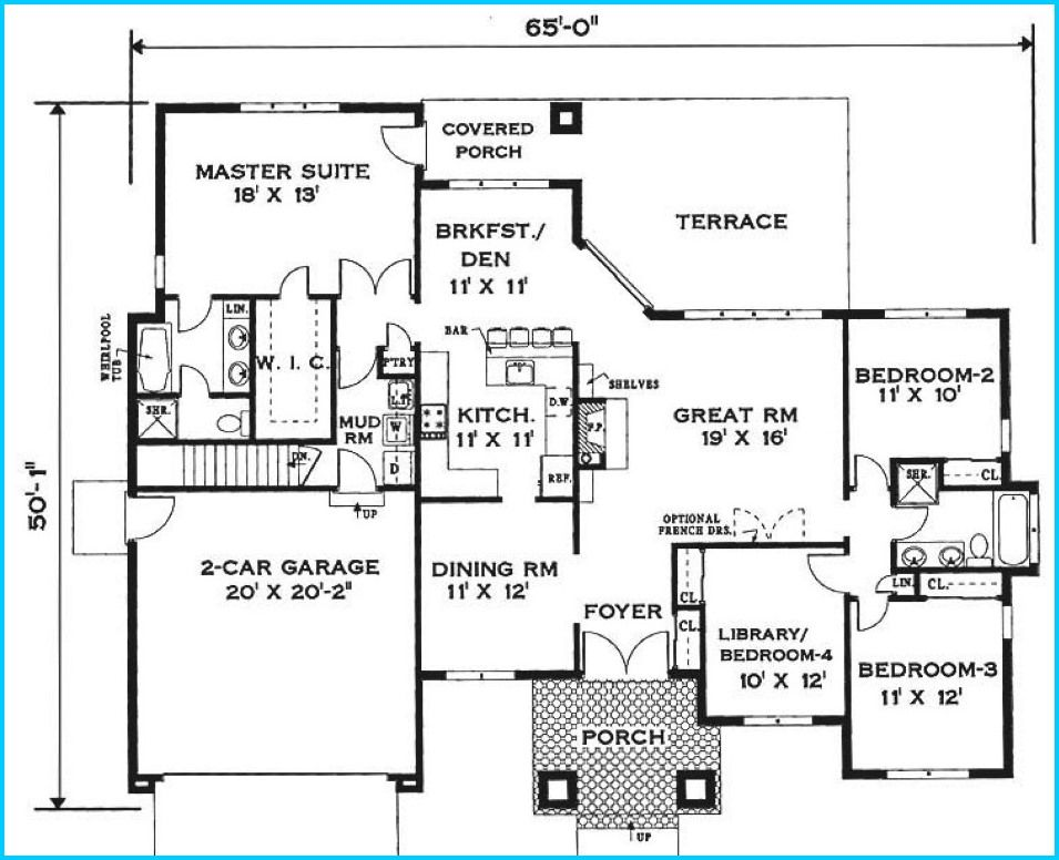 Mercedes Homes Floor Plans 2004 For The Best Plans Home Build Designs One Floor House Plans House Floor Plans House Plans One Story