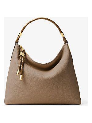 21b50a798f79 Michael Kors Collection Skorpios Large Leather Shoulder Bag
