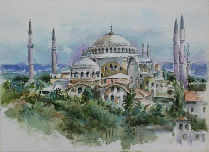 My Artwork The Blue Mosque Istanbul Resimler Resim Suluboya