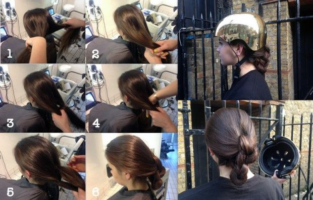 Hairstyles For Helmets Triple Knot Bun Total Women S Cycling