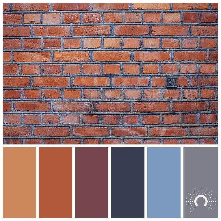 Color Palette Brick House Exterior