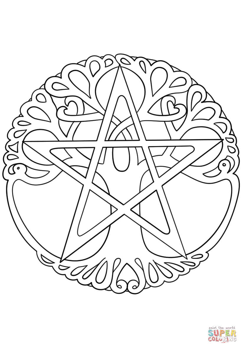 wicca coloring pages | Wiccan Tree of Life | Super Coloring | Coloring pages ...