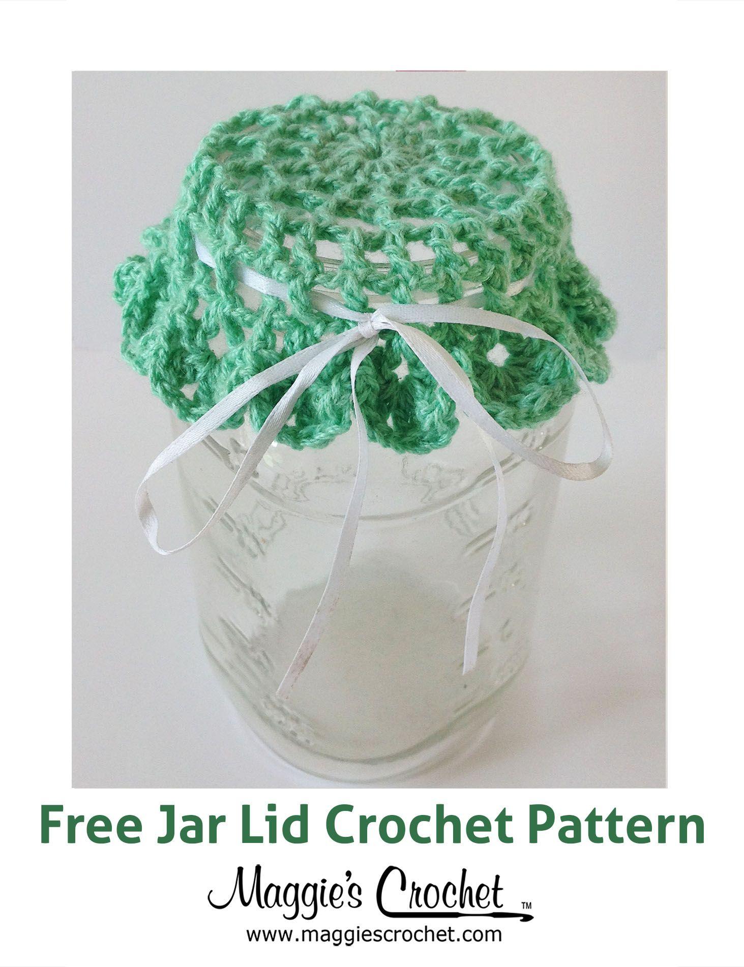 Jar Lid Free Crochet Pattern from Maggie\'s Crochet.   Aplicaciones ...