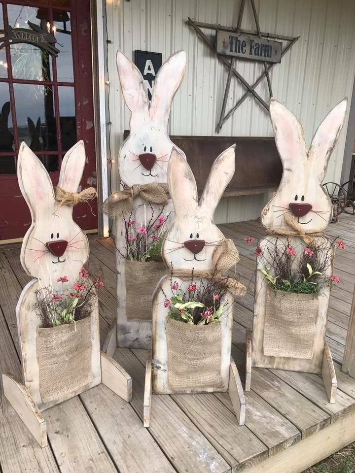 bunnies jardins en 2018 pinterest deco paques decoration paques et bricolage paques. Black Bedroom Furniture Sets. Home Design Ideas
