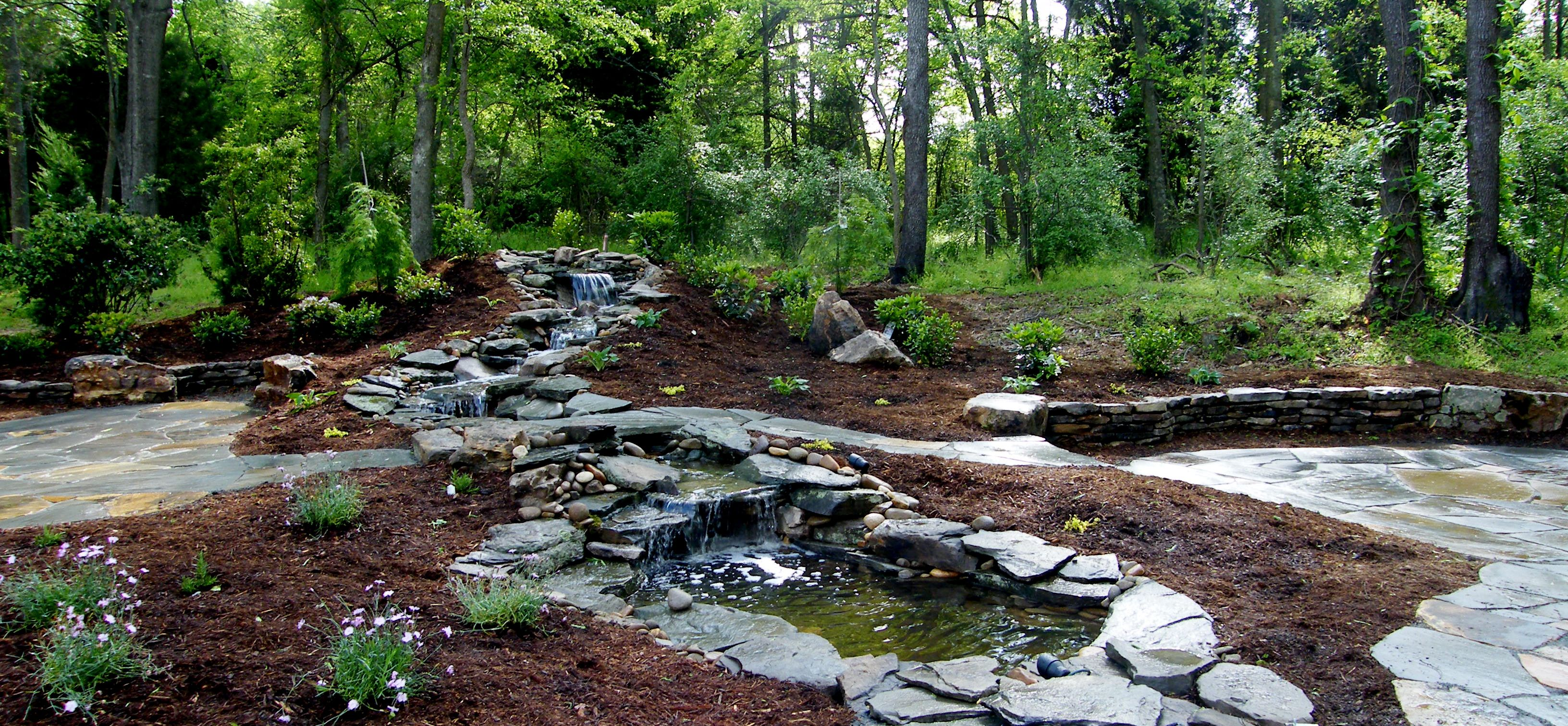 Landscape Design By All Natural Streams Landscaping Walkways Ponds Streams Landscaping Outdoor Lighting And Landscape Design Landscape Landscape Features