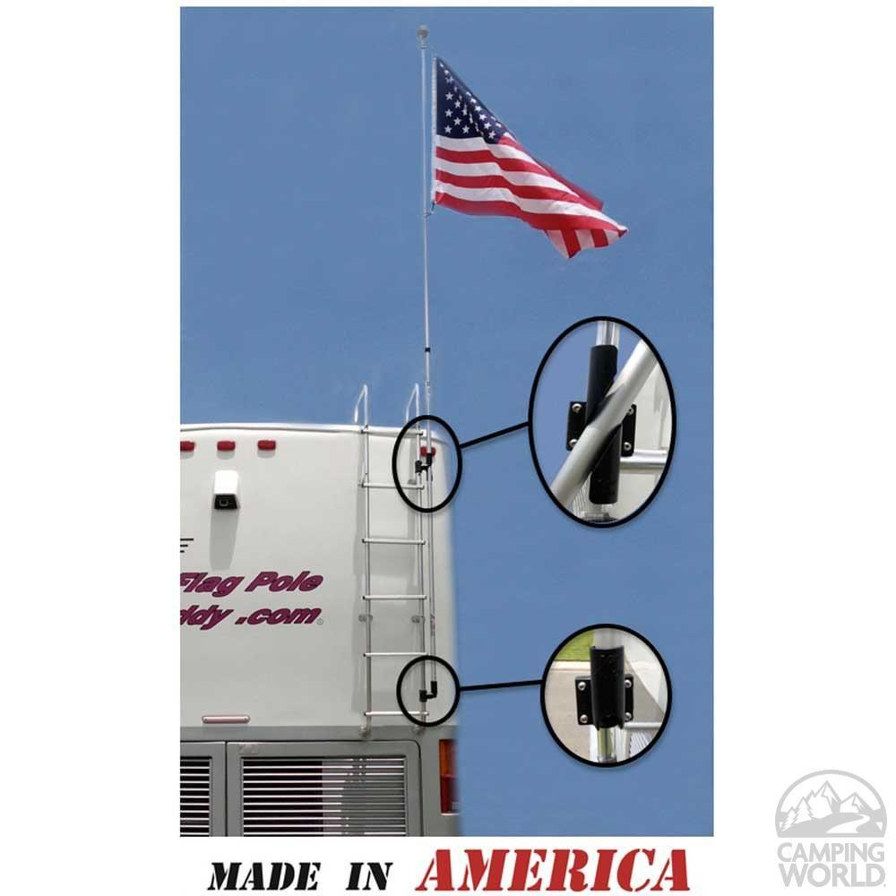 22 Ft Fiberglass Rv Flag Pole Buddy 2 0 Kit Flag Pole Air Mattress Camping Flag Pole Holder
