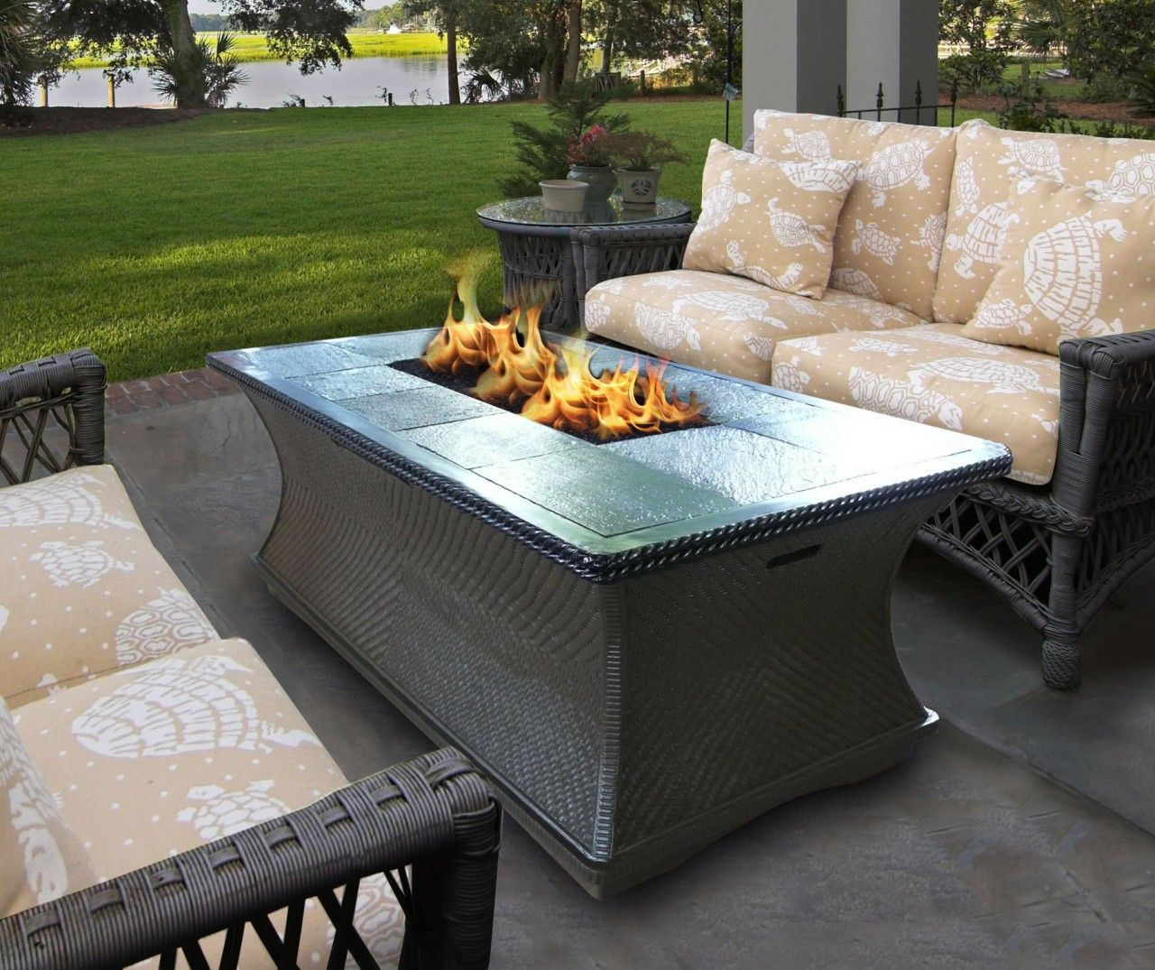 California Outdoor Concepts Monterey Firepit Coffee Table ...