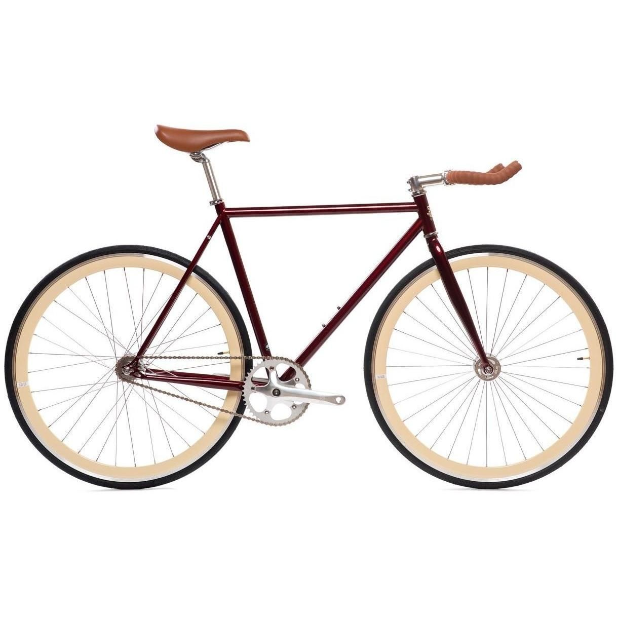 State Bicycle Co. 4130 Core Line | Ashton Burgundy Fixed Gear Bike