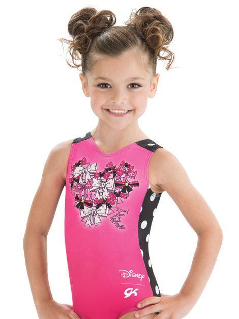 ffc651620 Kids Rock Dots Minnie Mouse Disney Tank Gymnastics Leotard by GK ...