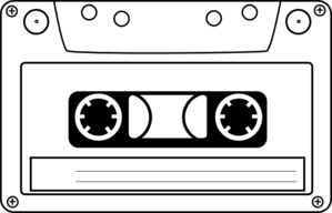 Cassette Audio Tape clip art - vector clip art online, royalty free & public domain