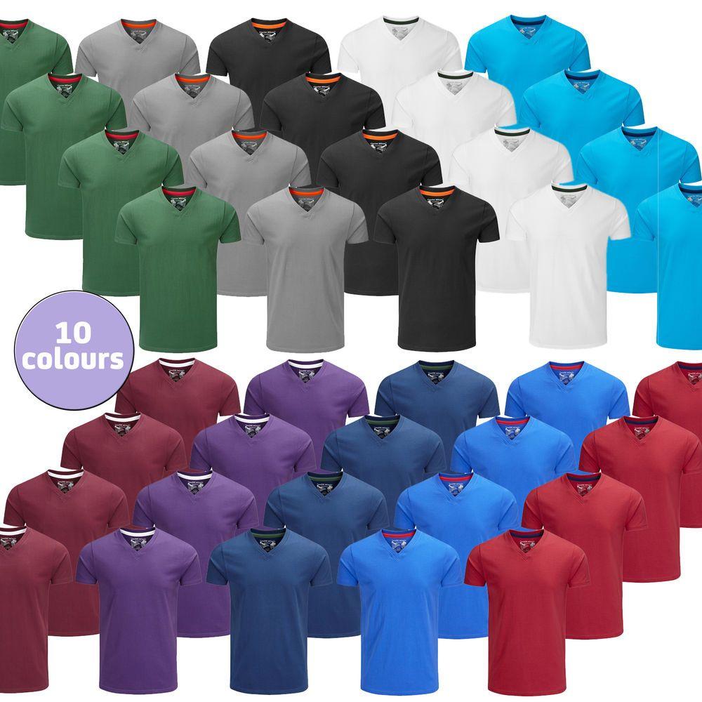 Charles Wilson Men s 4 Four Pack Short Sleeve V Neck T-Shirt Tee Top New 2016